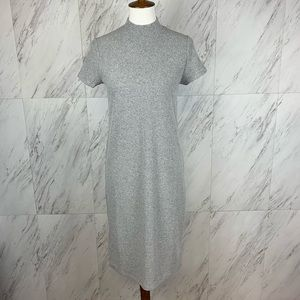GAP Maternity Ribbed Short Sleeve Mock Neck Dress